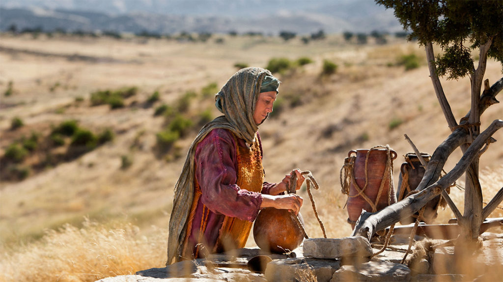 samaritan woman and Jesus at the well