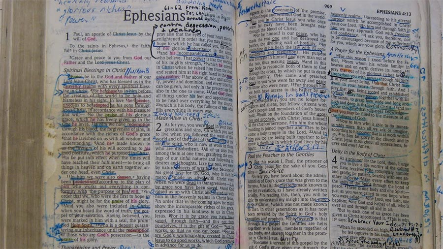 Marked up Bible is sufficient