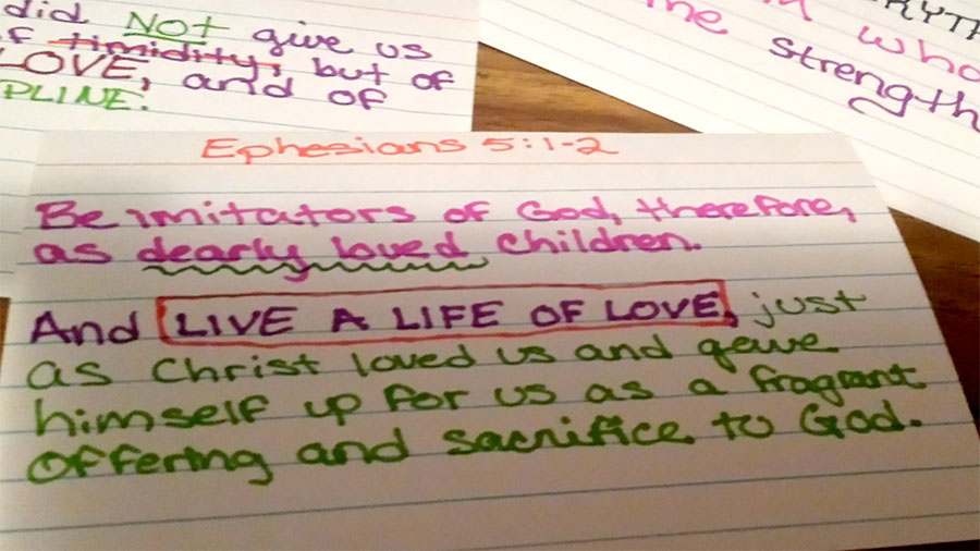Scripture memorization is important