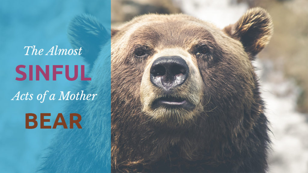 The almost sinful acts of a mother bear