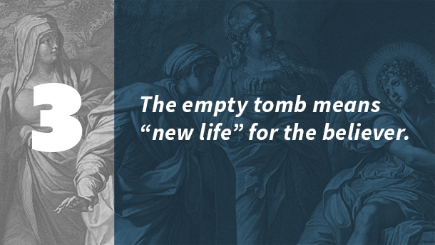 the empty tomb means new life for the believer
