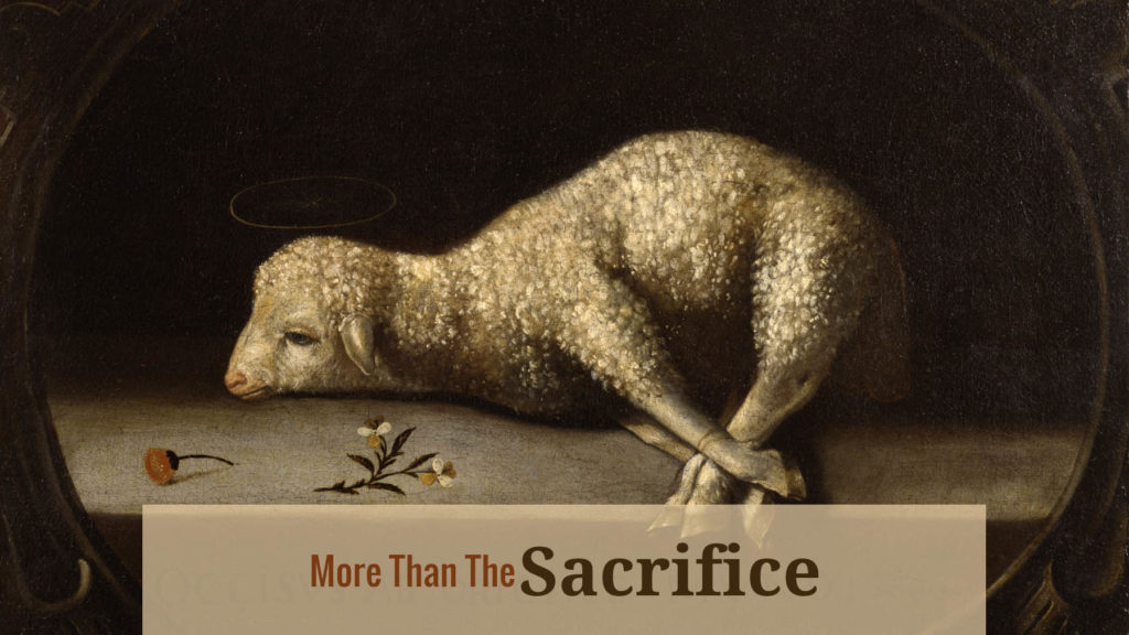 more than the sacrifice