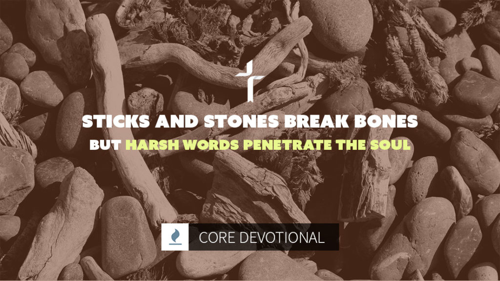 harsh words penetrate the soul