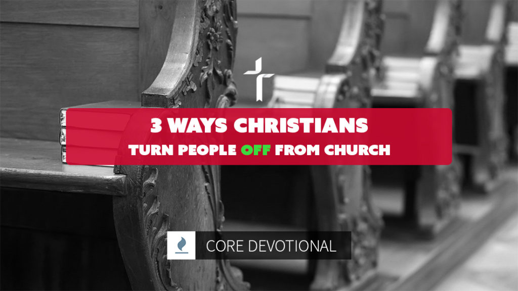 ways Christians turn people off from church